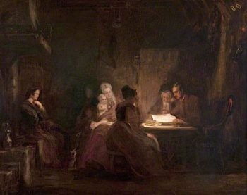 The Cottars Saturday Night | David Wilkie | oil painting
