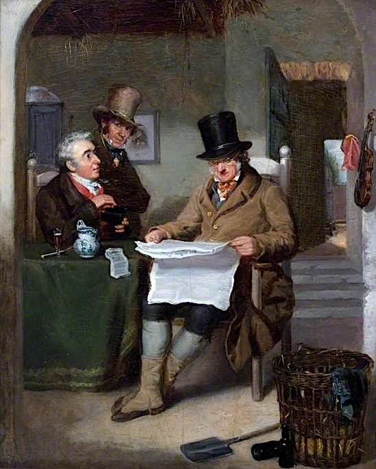 Reading the News | David Wilkie | oil painting