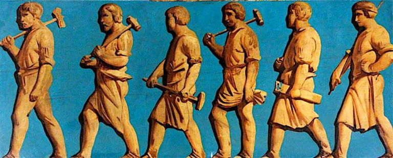 Frieze with Figures (polyptych) | Godfrey Sykes | oil painting