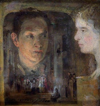 Sketch of a Head for The Rabbit on the Wall | David Wilkie | oil painting