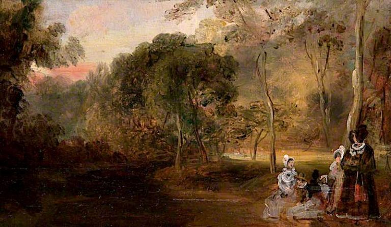 The Nursey Family in a Park | David Wilkie | oil painting