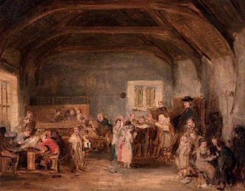 The Village School | David Wilkie | oil painting