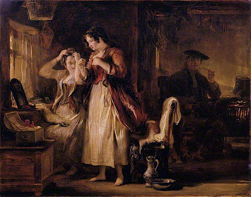 The Cottage Toilet   David Wilkie   oil painting