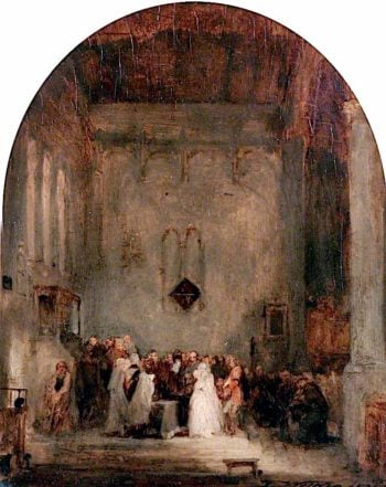 The Soldiers Grave   David Wilkie   oil painting