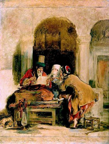 The Turkish Letter Writer | David Wilkie | oil painting