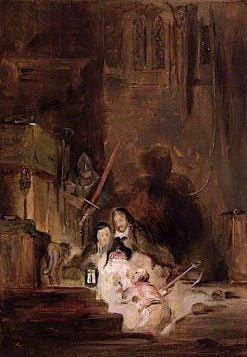 The Burial of the Scottish Regalia | David Wilkie | oil painting