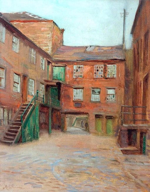 Old Pack Horse Yard | Arthur Netherwood | oil painting