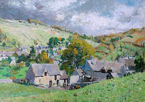 A Gloucestershire Village | Louise Pickard | oil painting