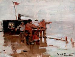 Fishermen | William Frederick Mayor | oil painting