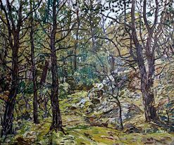 Godolphin Woods | Walter Elmer Schofield | oil painting