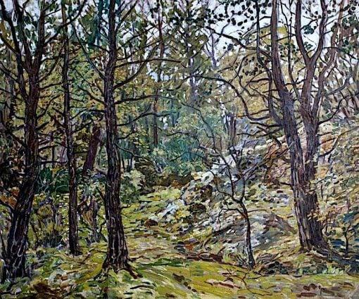 Godolphin Woods   Walter Elmer Schofield   oil painting