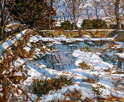 Godolphin Pond in the Snow | Walter Elmer Schofield | oil painting