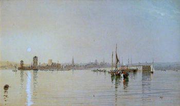 Old Victoria Pier | John Miller Nicholson | oil painting