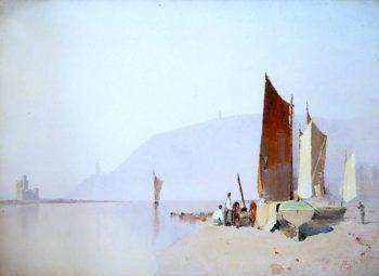 Douglas Shore -  A Summer Morning in 1860 | John Miller Nicholson | oil painting