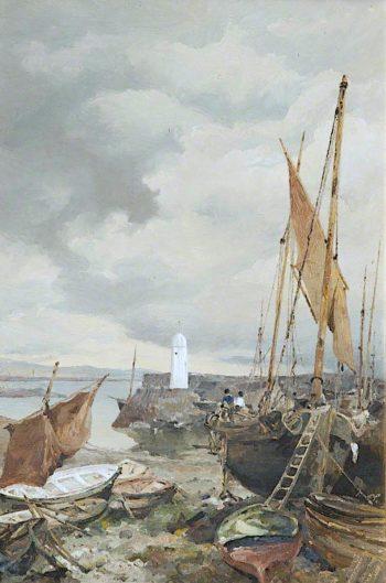 Port St Mary Harbour | John Miller Nicholson | oil painting