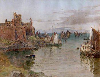 Peel Castle and Pier Head | John Miller Nicholson | oil painting
