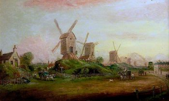 Windmills on the Forest | Thomas Cooper Moore | oil painting