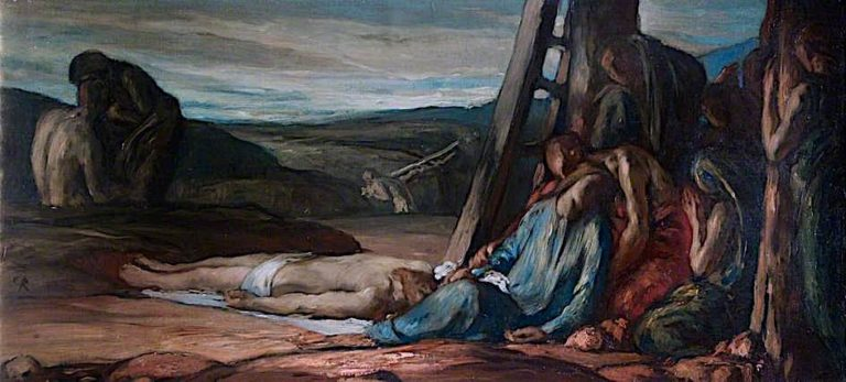 The Descent from the Cross | Charles S. Ricketts | oil painting