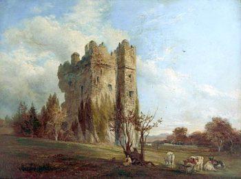 Ridpath Castle   Robert Tonge   oil painting