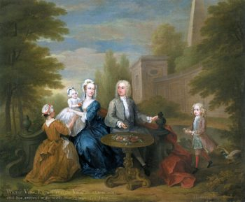 Walter Vane and His Family | William Hogarth | oil painting