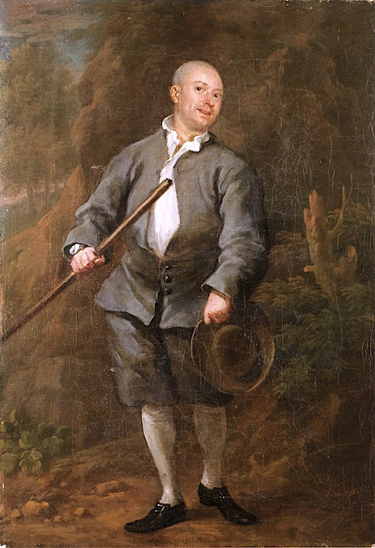 A Quarterstaff Player | William Hogarth | oil painting