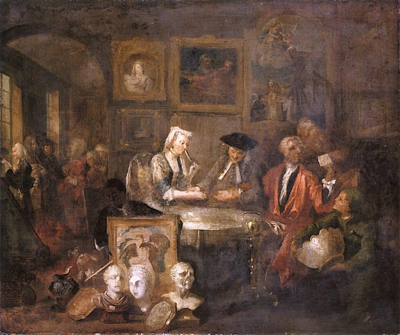 The Marriage Contract (alternative study for A Rakes Progress) | William Hogarth | oil painting