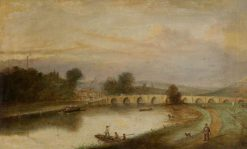 Trent Bridge, Nottingham, with Ferry | Thomas Cooper Moore