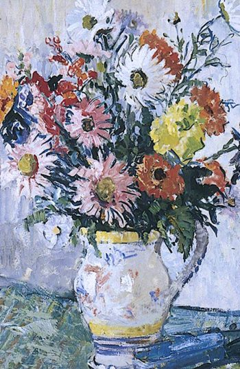 Flowers in a White Vase | Mary Ethel Hunter | oil painting