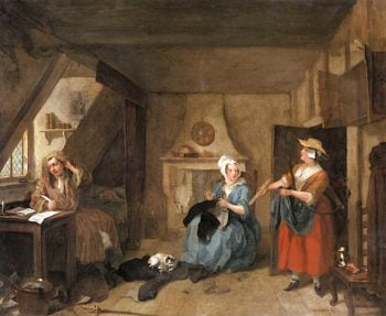 The Distressed Poet | William Hogarth | oil painting