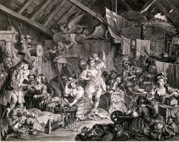 Strolling Actresses Dressing in a Barn | William Hogarth | oil painting