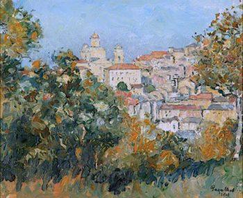 Italian Hilltop Farm | Edgar Wood | oil painting