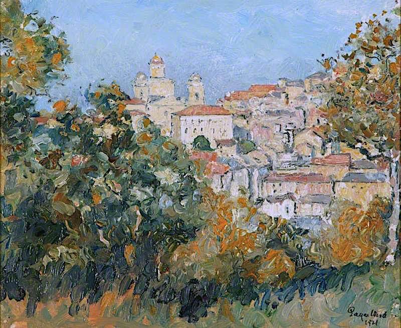 Italian Hilltop Farm   Edgar Wood   oil painting