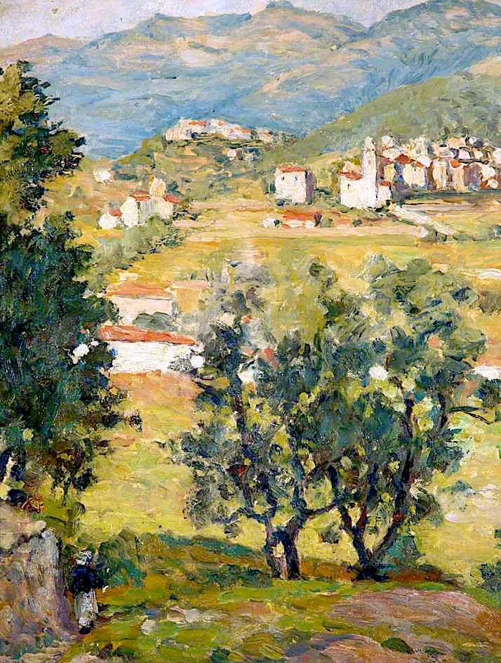 Italian Landscape Painting Edgar Wood Oil Paintings