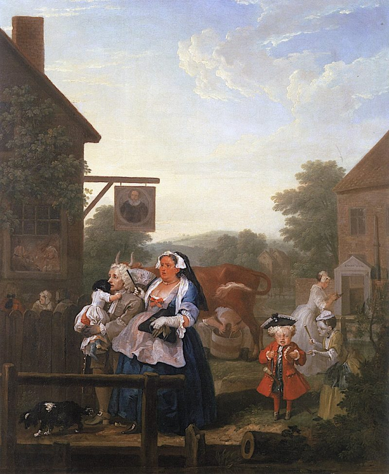 Four Times Of Day -  Evening   William Hogarth   oil painting