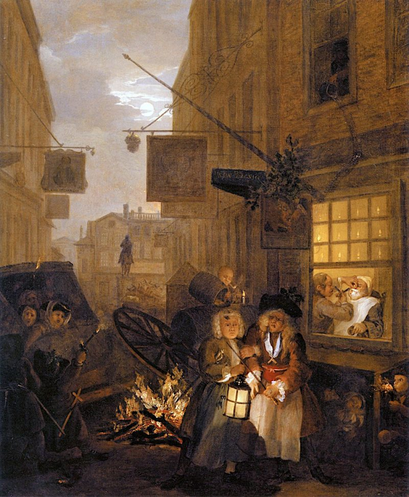 The Four Times of Day -  Night | William Hogarth | oil painting