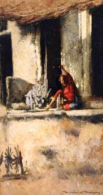 Spinning | Mortimer Menpes | oil painting