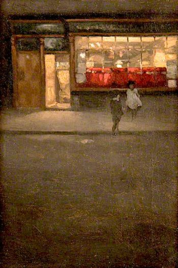 A Little Shop in Chelsea | Mortimer Menpes | oil painting