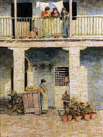 On the Balcony | Mortimer Menpes | oil painting