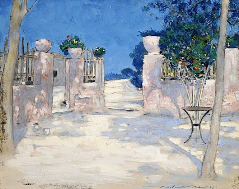 Entrance to a Japanese Garden | Mortimer Menpes | oil painting