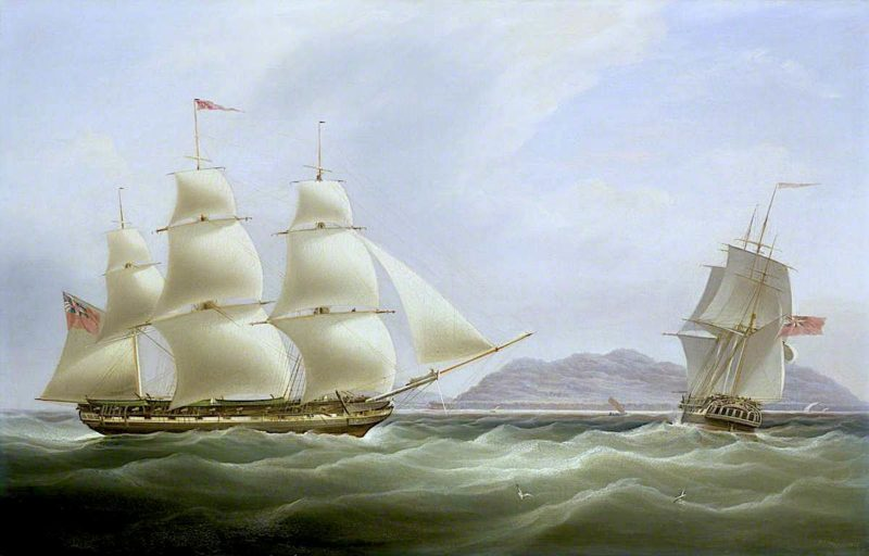 The Ships Vigilant and Harpooner Offshore | William John Huggins | oil painting