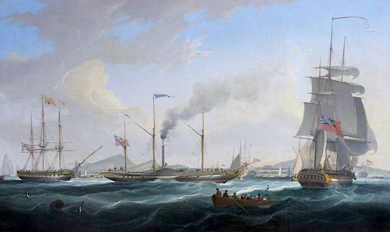 George IVs Arrival at Leith | William John Huggins | oil painting