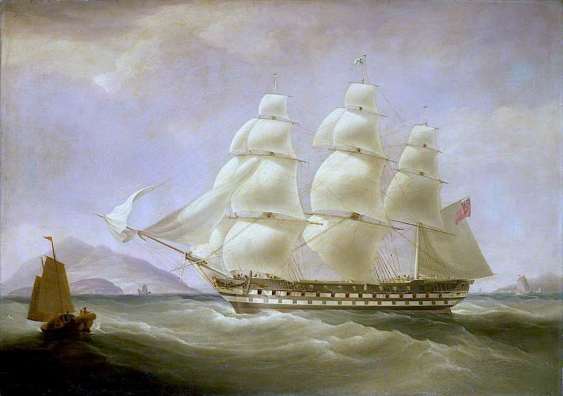 The East Indiaman 'Triton' | William John Huggins | oil painting