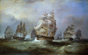 East Indiamen in the China Seas | William John Huggins | oil painting