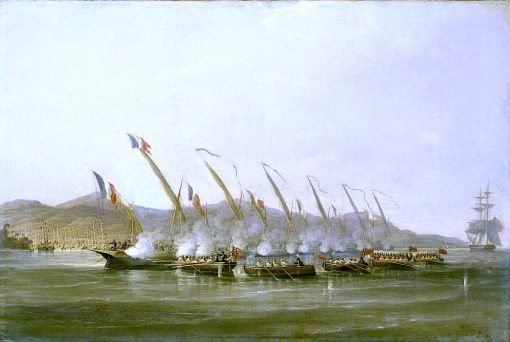 Captain Robert Maunsell Capturing French Gunboats off Java