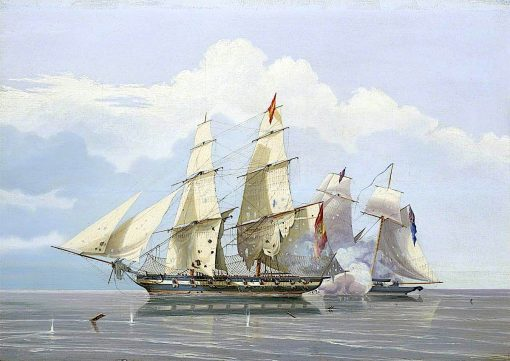 The Capture of the Slaver Formidable by HMS Buzzard