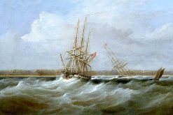 The Opium Clipper 'Sylph' Salvaged by the Sloop 'Clive'