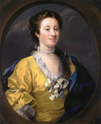 Unknown Woman in a Yellow Gown | William Hogarth | oil painting