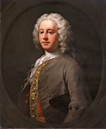 Unknown man in a Grey Coat and Scarlet Waistcoat | William Hogarth | oil painting