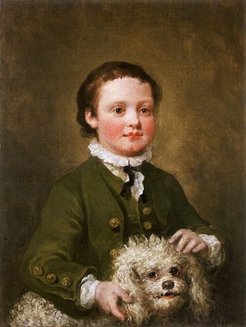 A Boy Holding a White Poodle | William Hogarth | oil painting