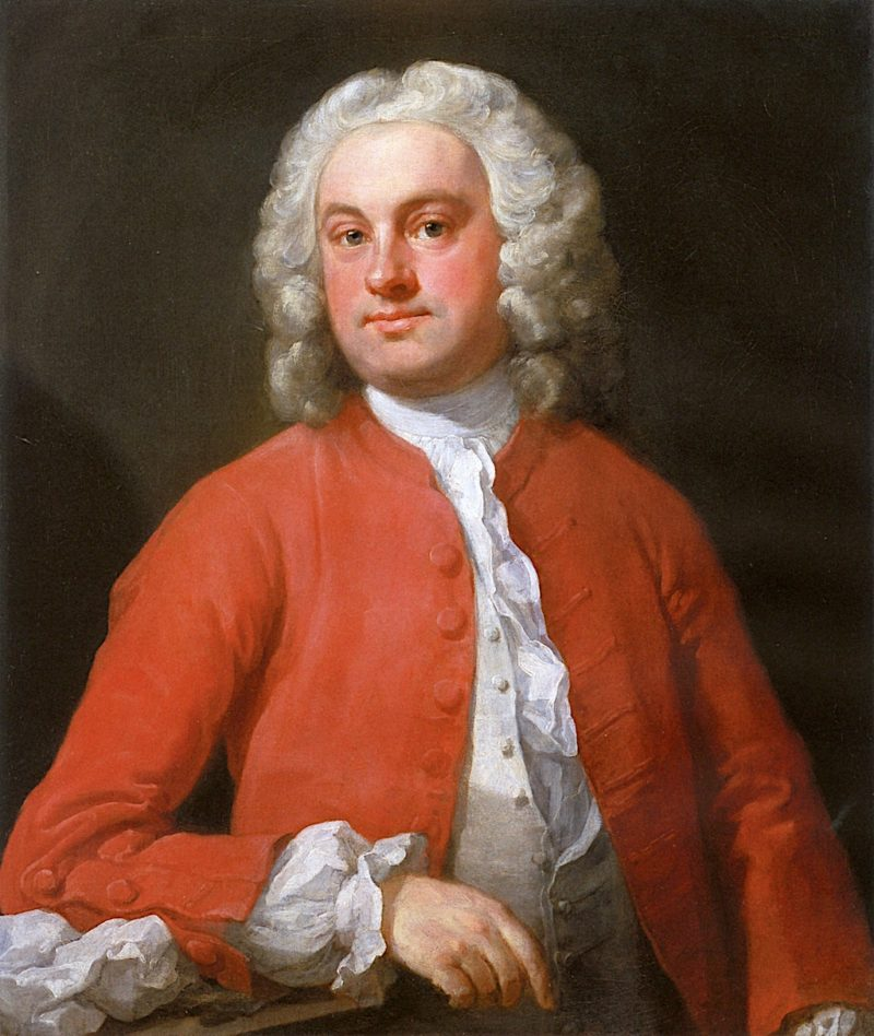 Unknown Man in Red   William Hogarth   oil painting